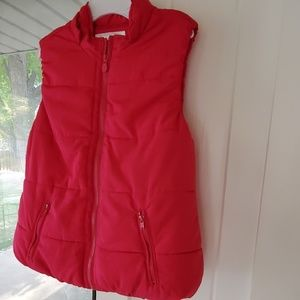 Justice Bright Pink Puffer Vest